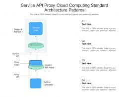 Service API Proxy Cloud Computing Standard Architecture Patterns Ppt Presentation Diagram