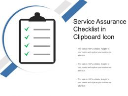 Service Assurance Checklist In Clipboard Icon