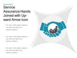 Service Assurance Hands Joined With Up Ward Arrow Icon