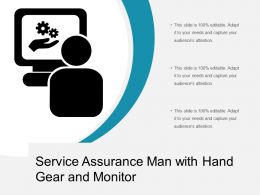 Service Assurance Man With Hand Gear And Monitor