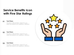Service Benefits Icon With Five Star Ratings