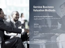 Service Business Valuation Methods Ppt Powerpoint Presentation Inspiration Slide Portrait Cpb
