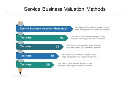 Service Business Valuation Methods Ppt Powerpoint Presentation Summary Microsoft Cpb