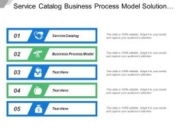 Service Catalog Business Process Model Solution Prototype Strategic Planning