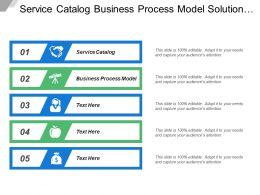 Service Catalog Business Process Model Solution Prototype Strategic Planning
