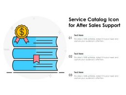 Service Catalog Icon For After Sales Support
