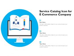 Service Catalog Icon For E Commerce Company