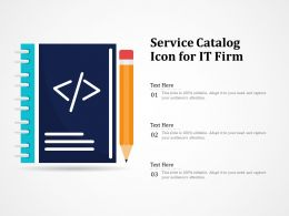 Service Catalog Icon For It Firm