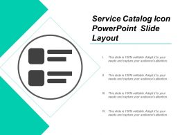 Service Catalog Icon Powerpoint Slide Layout