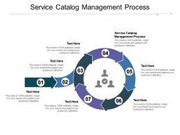 Service Catalog Management Process Ppt Powerpoint Presentation Inspiration Sample Cpb