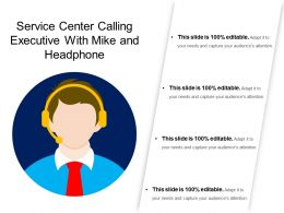 Service Center Calling Executive With Mike And Headphone