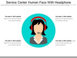 Service Center Human Face With Headphone