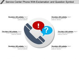 Service Center Phone With Exclamation And Question Symbol