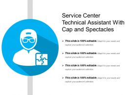 Service Center Technical Assistant With Cap And Spectacles