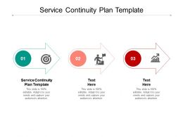 Service Continuity Plan Template Ppt Powerpoint Presentation Summary Grid Cpb