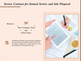 Service Contract For Annual Service And Sale Proposal Ppt Powerpoint Presentation Styles