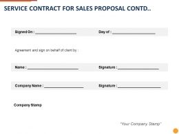 Service Contract For Sales Proposal Contd Ppt Powerpoint Presentation Portfolio Icons