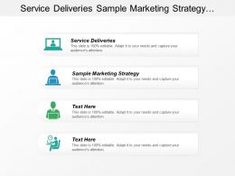Service Deliveries Sample Marketing Strategy Managing Technology Innovation Cpb