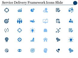 Service Delivery Framework Icons Slide Ppt Powerpoint Presentation File Deck