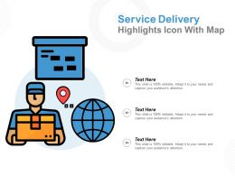 Service Delivery Highlights Icon With Map