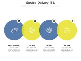Service Delivery Itil Ppt Powerpoint Presentation Model Icon Cpb