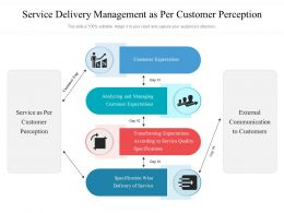 Service Delivery Management As Per Customer Perception