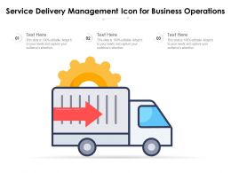 Service Delivery Management Icon For Business Operations