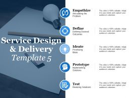 Service Design And Delivery Empathize Define Ppt Powerpoint Presentation Model Portrait