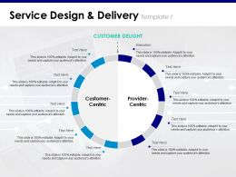 Service Design And Delivery Execution Customer Centric Provider Centric