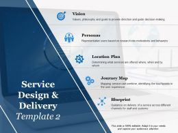 Service Design And Delivery Location Plan Ppt Powerpoint Presentation Model Slide Portrait