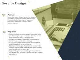 Service Design Ppt Powerpoint Presentation Model Demonstration