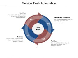 Service Desk Automation Ppt Powerpoint Presentation Inspiration Designs Cpb