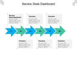 Service Desk Dashboard Ppt Powerpoint Presentation Icon Sample Cpb