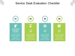 Service Desk Evaluation Checklist Ppt Powerpoint Presentation Infographics Summary Cpb