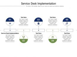 Service Desk Implementation Ppt Powerpoint Presentation Portfolio Aids Cpb