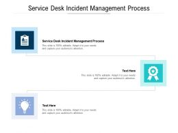 Service Desk Incident Management Process Ppt Powerpoint Outline Cpb