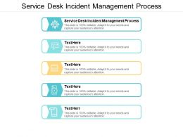 Service Desk Incident Management Process Ppt Powerpoint Presentation Slides Deck Cpb
