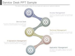 Service Desk Ppt Sample