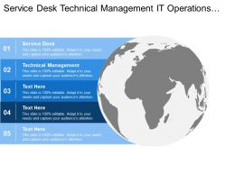 Service Desk Technical Management It Operations Management Application Management