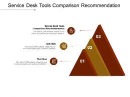 Service Desk Tools Comparison Recommendation Ppt Powerpoint Presentation Icon Grid Cpb