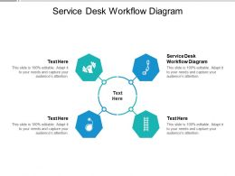 Service Desk Workflow Diagram Ppt Powerpoint Presentation Infographics Outfit Cpb