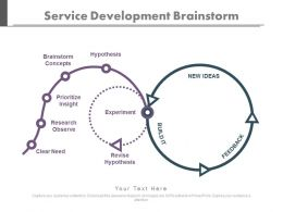 Service Development Brainstorm Ppt Slides