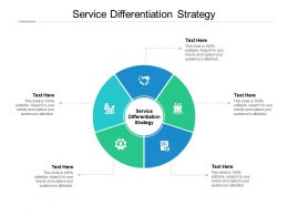 Service Differentiation Strategy Ppt Powerpoint Presentation Icon Model Cpb