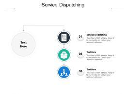 Service Dispatching Ppt Powerpoint Presentation Slides Deck Cpb