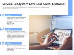 Service Ecosystem Levels For Social Customer