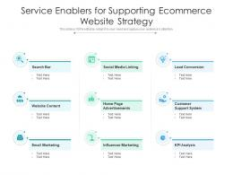 Service Enablers For Supporting Ecommerce Website Strategy