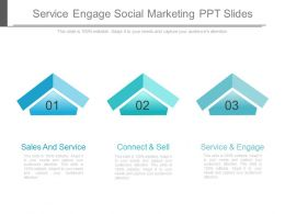 Service Engage Social Marketing Ppt Slide