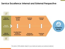 Service Excellence Internal And External Perspective Ppt Powerpoint Presentation File Ideas