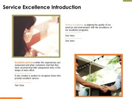 Service Excellence Introduction Ppt Powerpoint Presentation File Infographic Template