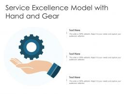Service Excellence Model With Hand And Gear